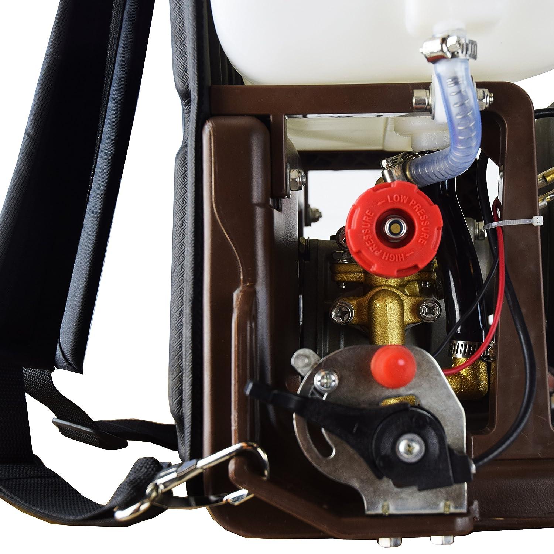 Sulfatadora de mochila a gasolina Groway, 20 litros, 25cc, 11kg: Amazon.es: Jardín