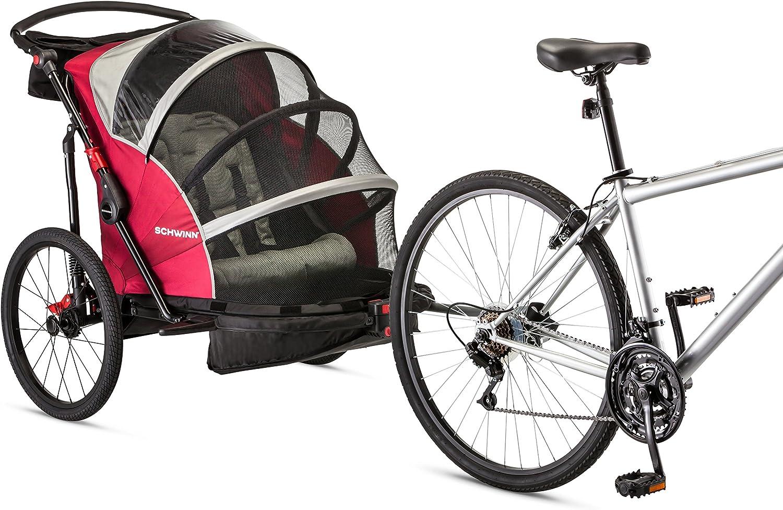 Schwinn Joyrider, Echo, and Trailblazer Bike Trailer for Toddlers, Kids, Single and Double Baby Carrier bike cargo trailer