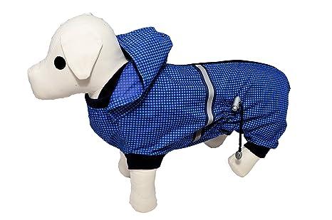 Azul diseño de cuadros escoceses chubasquero perro perchero ...