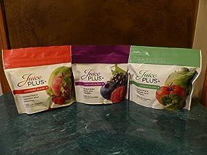 Juice Plus+ Orchard, Garden & Vineyard Blend (3 bags) 120 Chewables of Each