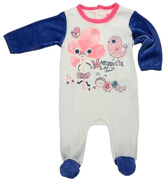 Petit Béguin - Pelele - para bebé niña crudo 68 cm