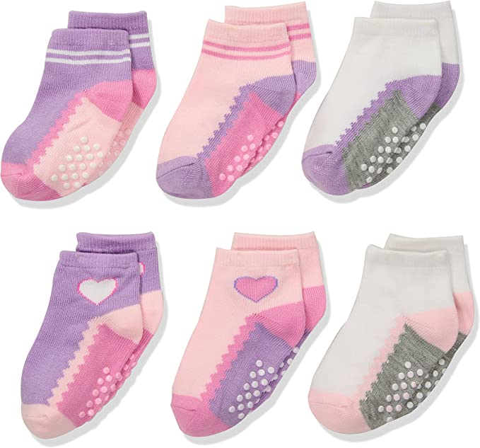 Jefferies Socks Girls Dots//Color Block//Stripes Fashion Ankle Socks 9 Pair Pack