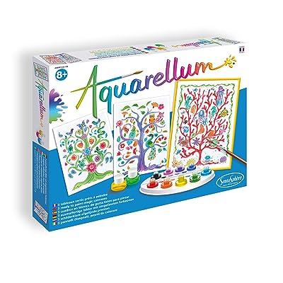 Set de Pintura de Sentosphère «Aquarellum» de árboles de la Vida, 3906380: Juguetes y juegos