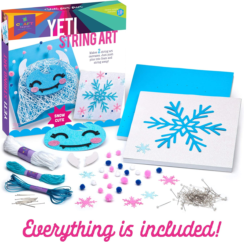 String Art Craft Kit Set Kids Adult Teen Boy Girl Gift Activity DIY Canvas New