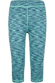 Mountain Warehouse Cosmo Girls Leggings Stretchy Jeggings for Running Space Dye Design Sports Orange 3-4 Years Super Soft Childrens Pants Walking Quick Wicking Kids Tights