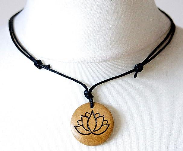 Lotus Necklace Lotus Flower Pendant Padma Symbol Spiritualism Choker