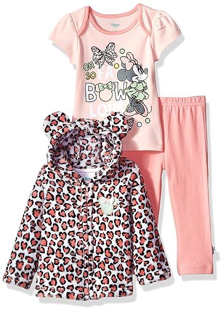 Amazon.com: Disney, traje de 3 piezas para niñas con diseño ...