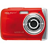 "Easypix Aquapix W1024 - Cámara compacta digital (10 MP, 2.4"", zoom digital 4x, VGA), color rojo"