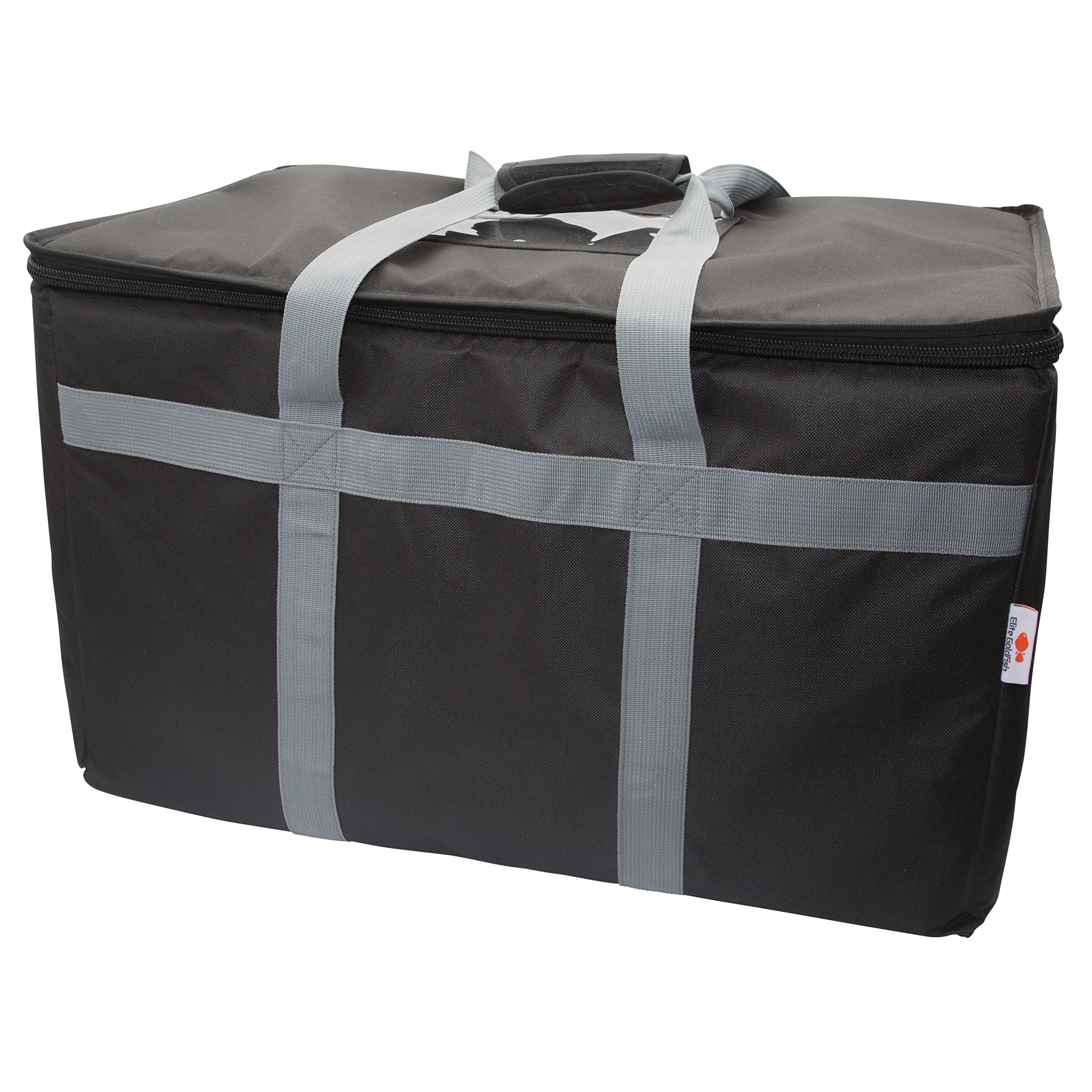 Commercial Quality Food Delivery Bag–Leak Proof–Extra Strength Zipper-Thick Insulation–Ideal for Catering,Uber Eats, Doordash– by Elite Goldfish