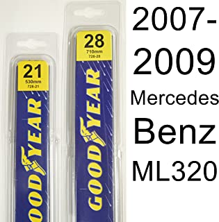 "product image for Mercedes Benz ML320 (2007-2009) Wiper Blade Kit - Set Includes 28"" (Driver Side), 21"" (Passenger Side) (2 Blades Total)"