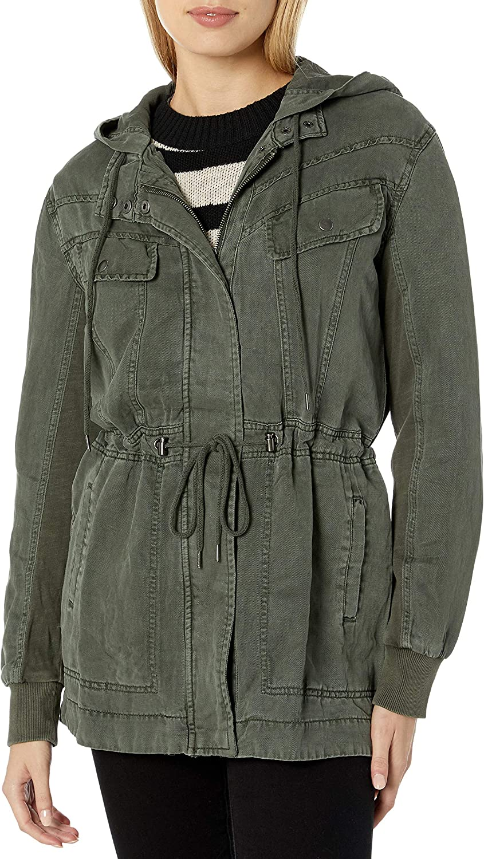 Splendid Womens Linen Cropped Jacket