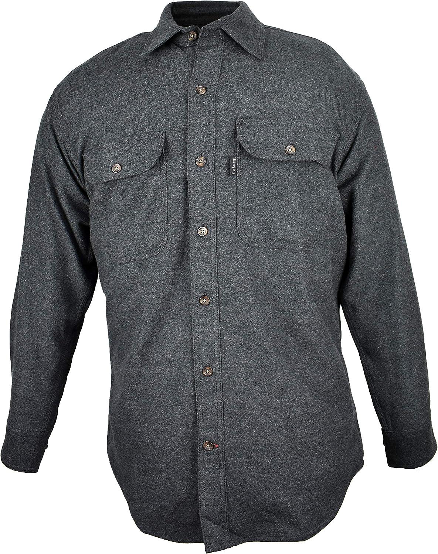 Men's Vintage Workwear – 1920s, 1930s, 1940s, 1950s Five Brother Original Chamois Shirt | Button Front $38.98 AT vintagedancer.com