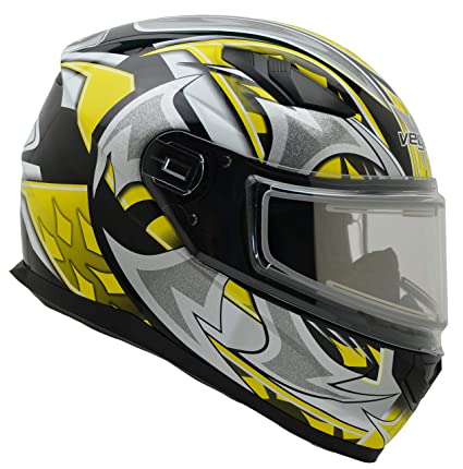 9c86024b Image Unavailable. Image not available for. Color: Vega Helmets Ultra  Electric Snow Unisex-Adult Full Face Snowmobile Helmet with Heated Shield  Yellow