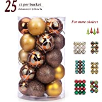 25-Pk Sanno Glitter Christmas Ornament