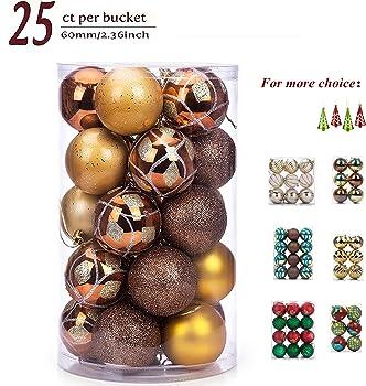 25-Pack Sanno Glitter Christmas Ornament