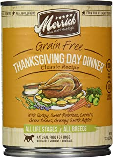 product image for Merrick, Canned Dog Food, 5-Star Thanksgiving Day Dinner 13.2 oz.