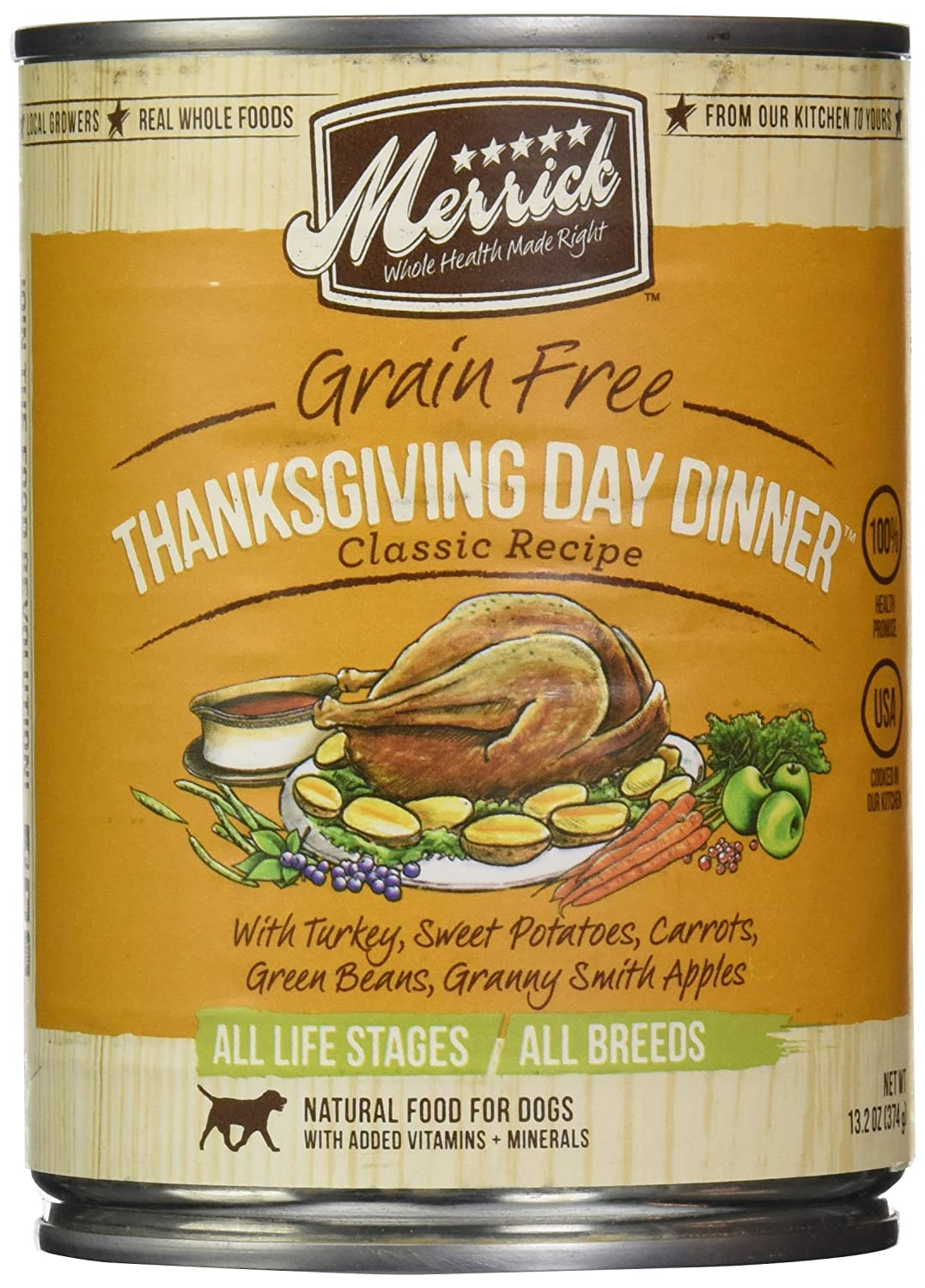 Merrick, Canned Dog Food, 5-Star Thanksgiving Day Dinner 13.2 oz.