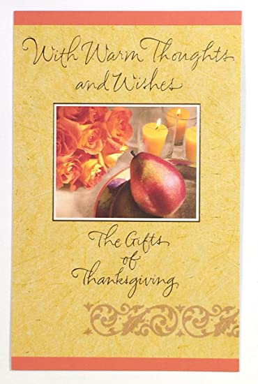 Amazon thanksgiving card with warm thoughts and wishes thanksgiving card with warm thoughts and wishes american greetings ea m4hsunfo