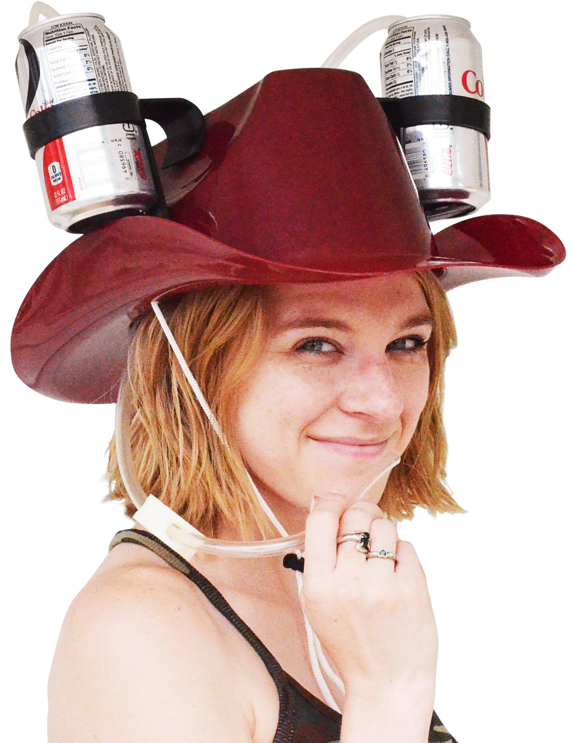 Fairly Odd Novelties Cowboy Drinking Hat, Burgundy