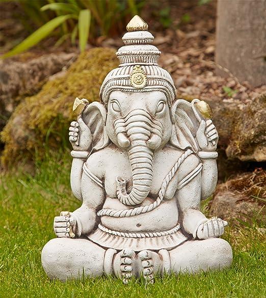 Diseño de tamaño grande Garden - Ganesh de Buda de la Estatua de la piedra: Amazon.es: Jardín