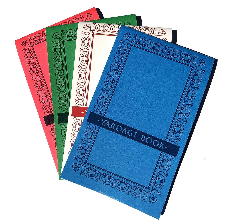 Golf Yardage Bücher (4 Stück) PGA Tour Vorlage W/STAT Tracking fügt ...