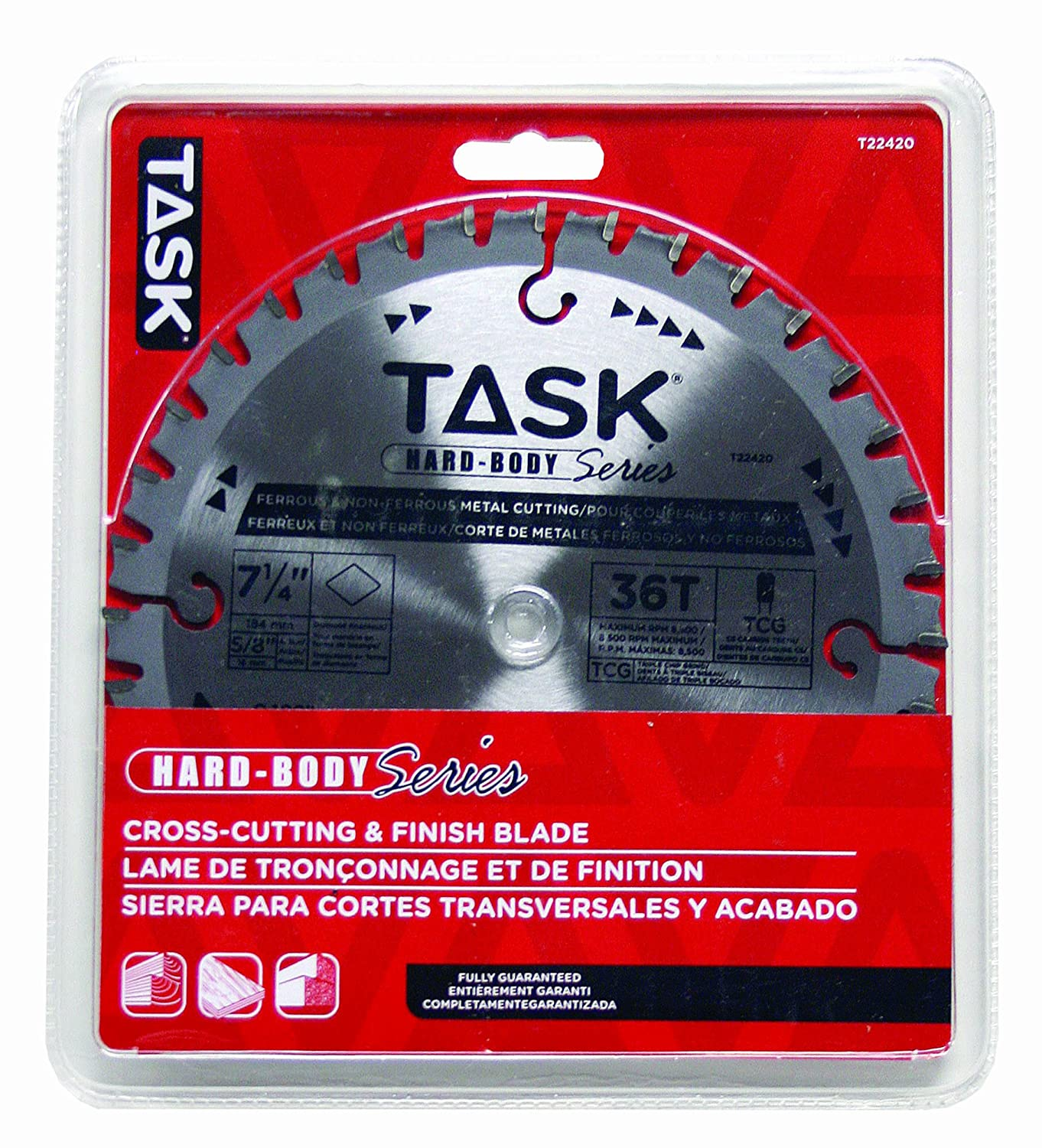 Task Tools T22420 7-1/4-Inch Hard Body Metal Cutting Carbide Saw Blade, Ferrous and Non-Ferrous with 5/8-Inch Arbor - Circular Saw Blades - Amazon.com