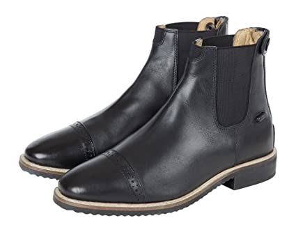 47db9758a0f5 Amazon.com   Huntley Equestrian Black Leather Zipper Paddock Boots ...