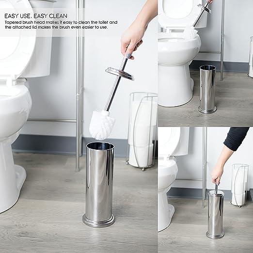 New Blue Canyon Plastic Elegant Design Bathroom Toilet Brush /& Holder