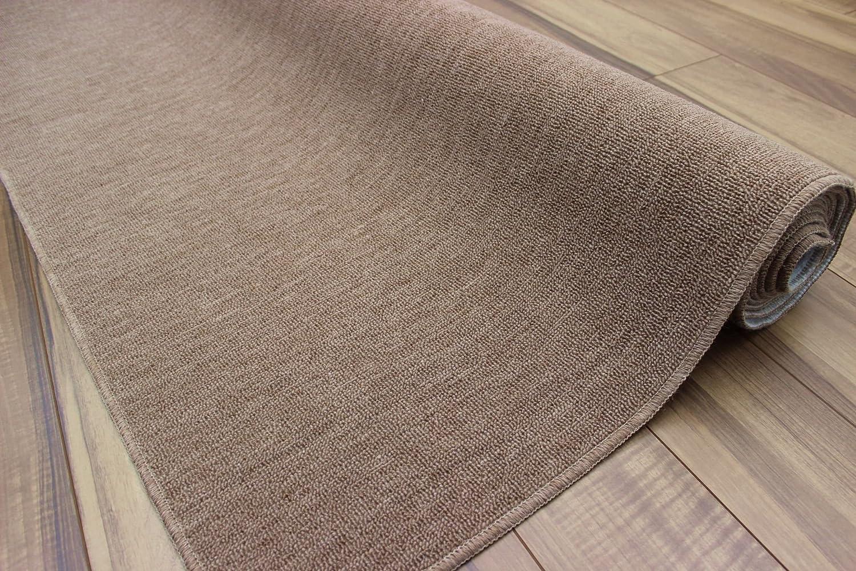 【防炎カーペット】 6畳 日本製 ウール混じゅうたん 折りたたみ絨毯 品名オリオン 6帖(261x352cm) ブラウン色 B071D76TQ9