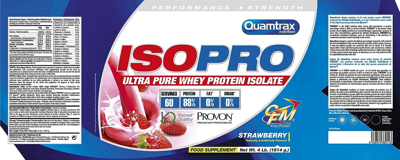 Quamtrax Nutrition Isopro 4Lb Strawberry 1 Unidad 1814 g
