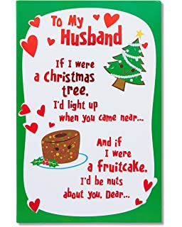Amazon christmas card for husbandfor my wonderful husband all american greetings funny lucky me christmas card for husband with foil 5777182 m4hsunfo