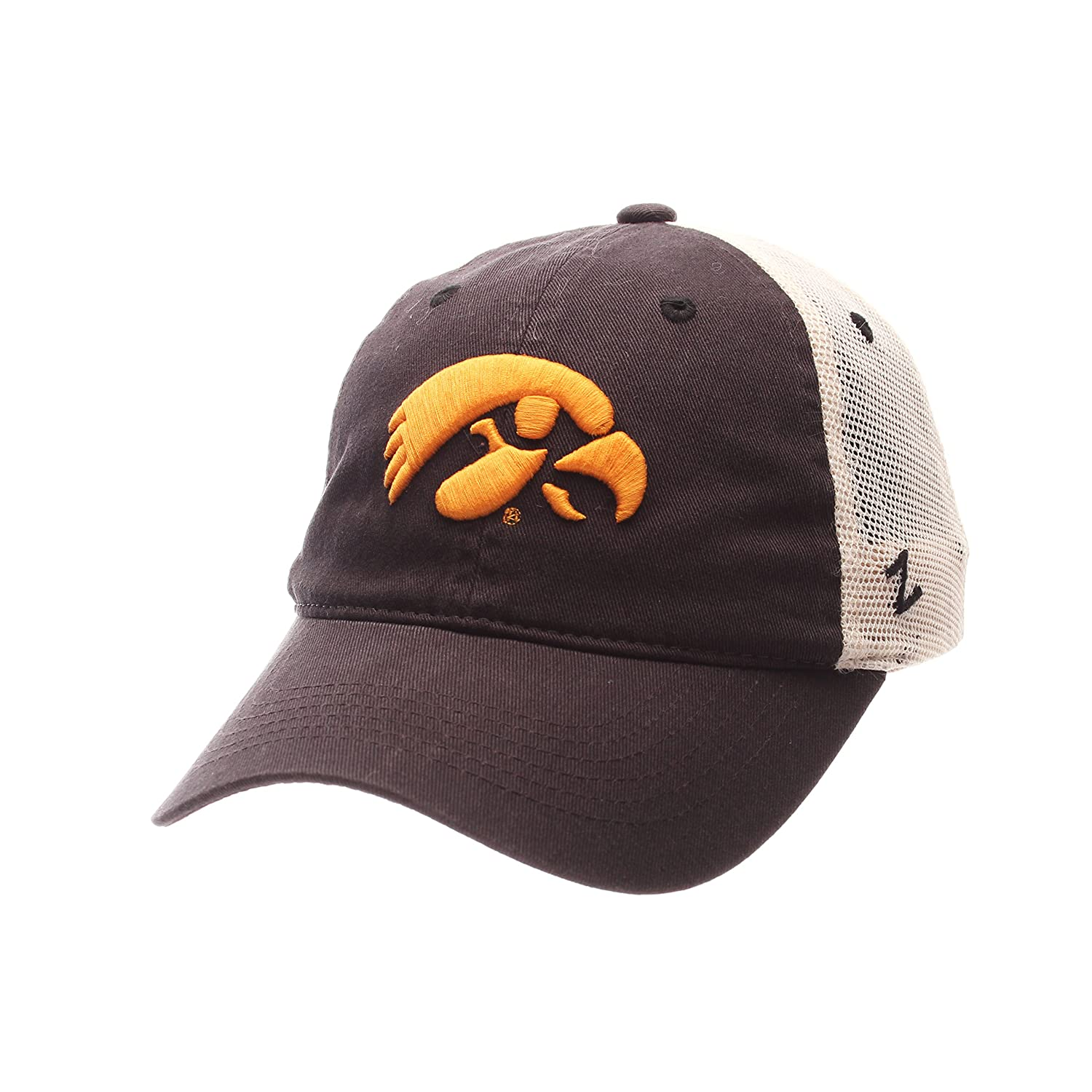 NCAA Zephyr Iowa Hawkeyes Mens University Relaxed Hat Adjustable Team Color//Stone