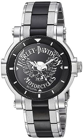 Amazon.com: Harley-Davidson 's Bulova Watch. 78A109: Harley ...