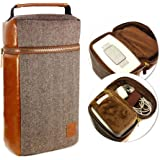 Tuff-Luv Herringbone Tweed NFC Travel Case for Bose SoundTouch 10 - Brown
