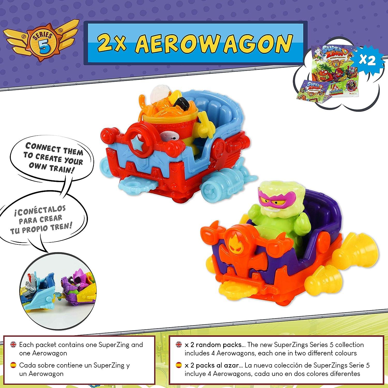 SuperZings Serie 5 - Aerowagon Blíster Pack con 1 Plateado; 10 ...
