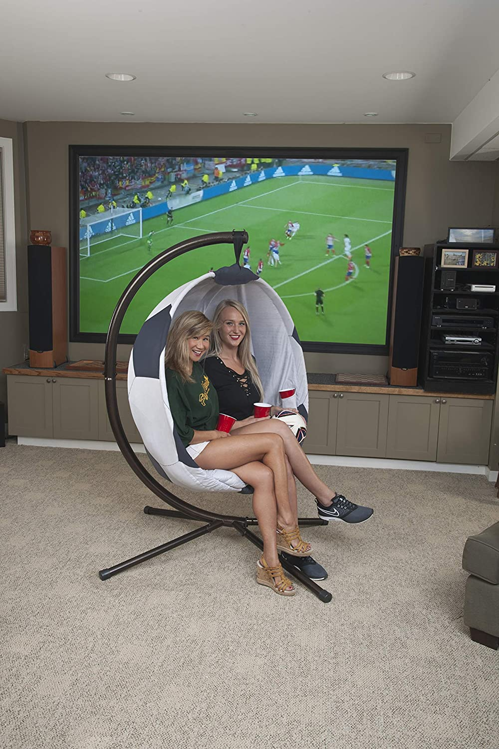 558610412 Amazon.com: Flowerhouse Soccerball Hanging Lounge Chair with Stand FHSB100:  Garden & Outdoor