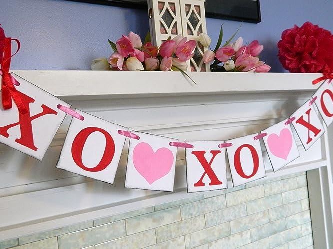 Amazon Com Valentine Decorations Xo Xo Xo Garland Valentine
