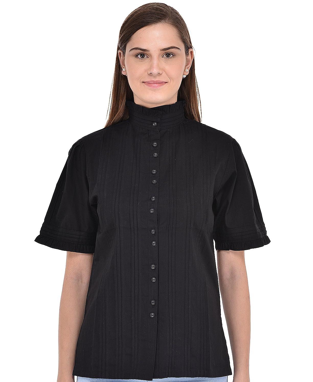 Cotton Lane Women's Classic Blouse Short Sleeve