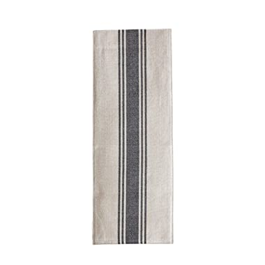 Creative Co-op DA8592-1 Canvas Table Runner with Black Stripes
