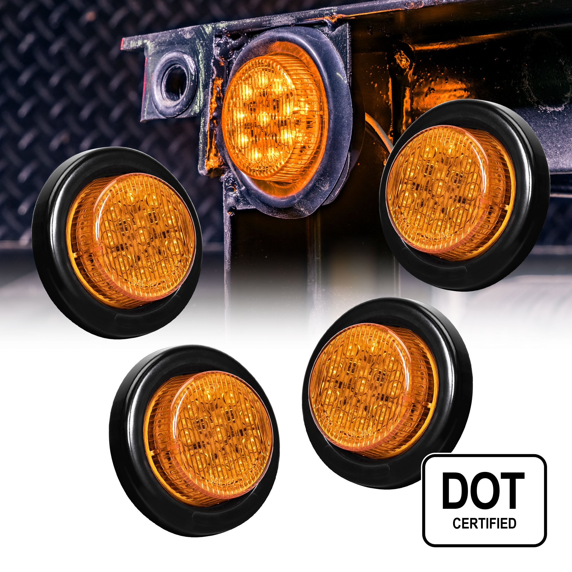 Best Rated In Automotive Vehicle Top Clearance Light Assemblies Led Trailer Side Marker With Reflector 2 Wire 4pc Round 10 1 Polycarbonate
