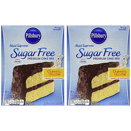 Pillsbury Moist Supreme Sugar Free Classic Yellow Premium Cake Mix Pack Of 2