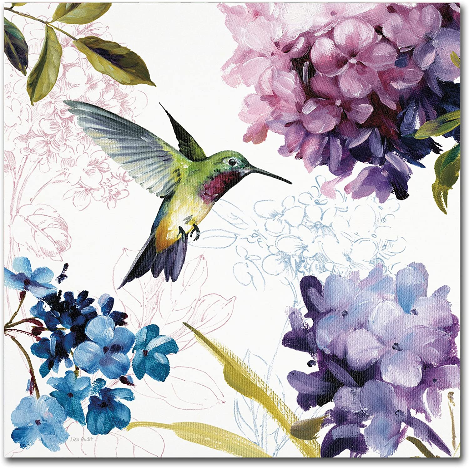 Amazon Com Spring Nectar Square Ii Wall Decor By Lisa Audit 18 X 18 Canvas Wall Art Posters Prints