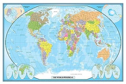 Amazon Com Swiftmaps 24x36 World Classic Wall Map Poster Mural