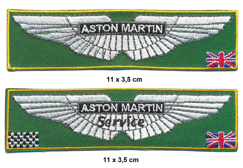 2 Pezzi per Auto Carrozzina Sportiva Racing Classics Aston Martin Toppa da Cucire Inghilterra
