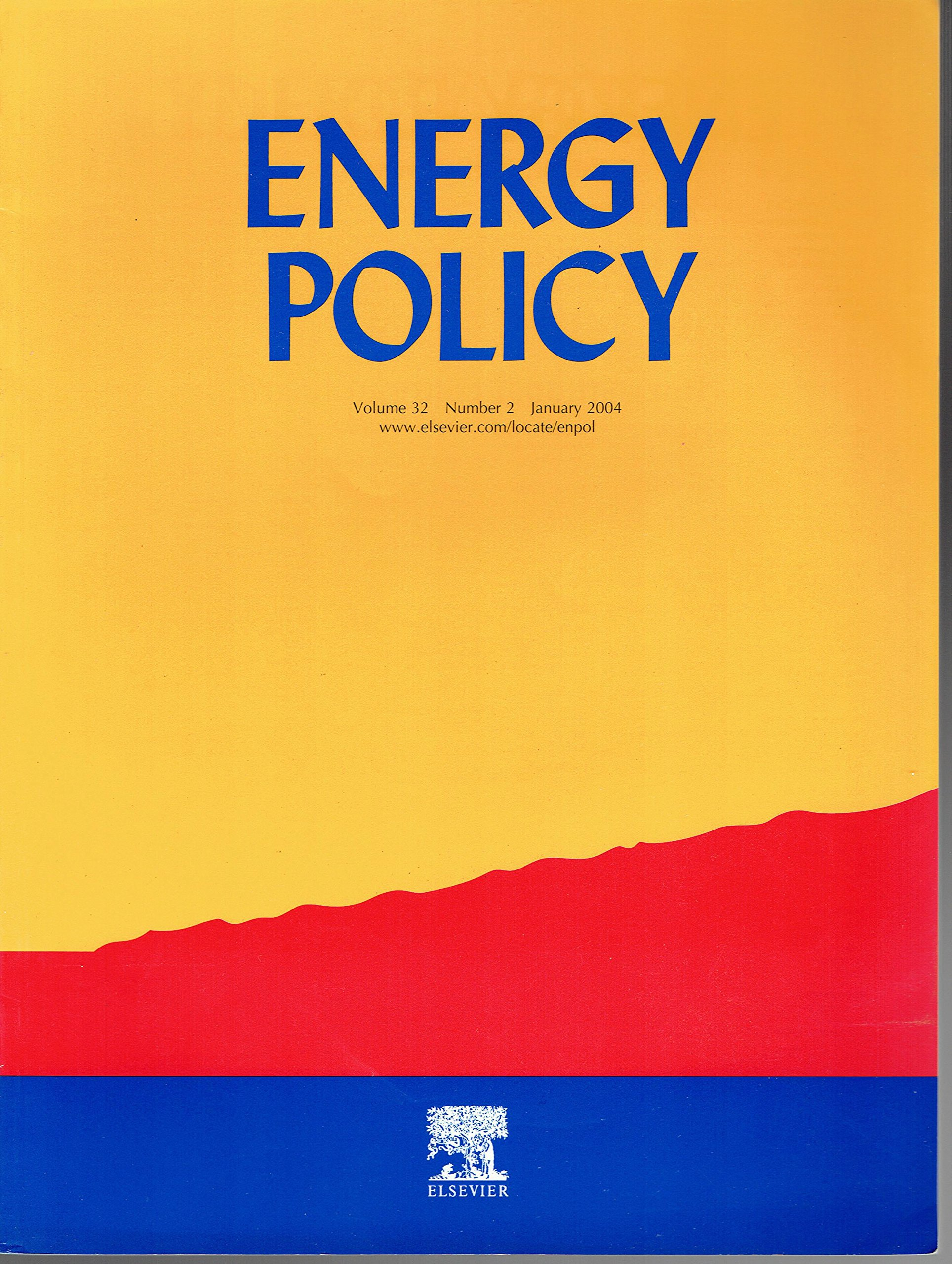 Read Online Energy Policy - Volume 32 - Number 2 - January 2004 - ISSN 0301-4215 ebook
