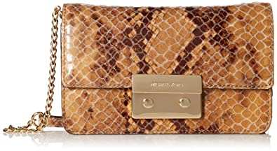 f7591644c0e3 Image Unavailable. Image not available for. Colour: Michael Kors Sloan  Chain Crossbody Sand Python