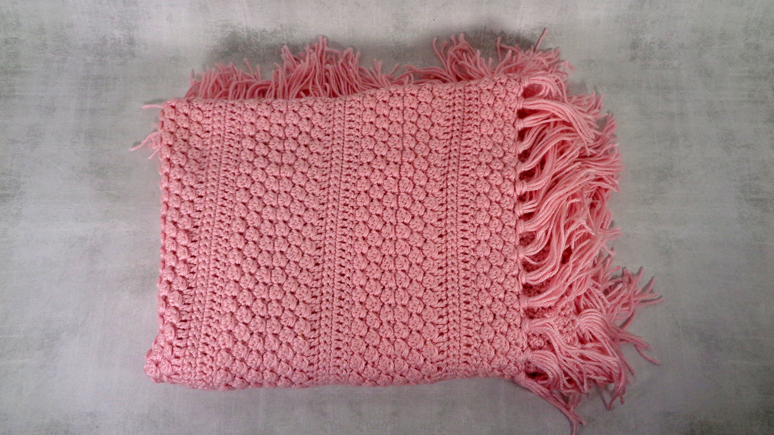Pink baby infant child crib cover blanket afghan throw baby shower gift
