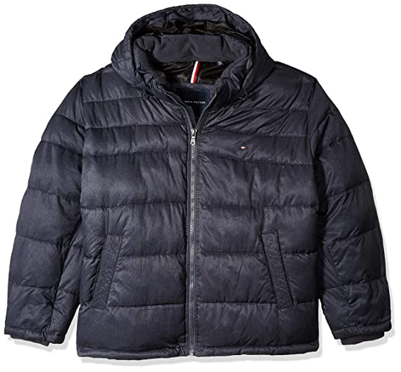 Amazon.com  Tommy Hilfiger Men s Classic Hooded Puffer Jacket  Clothing d2a246efab