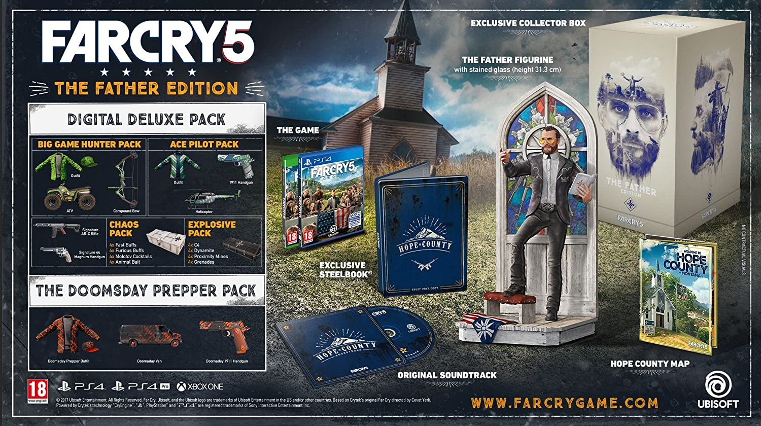 Far Cry 5 The Father Edition Ps4 Amazoncouk Pc Video