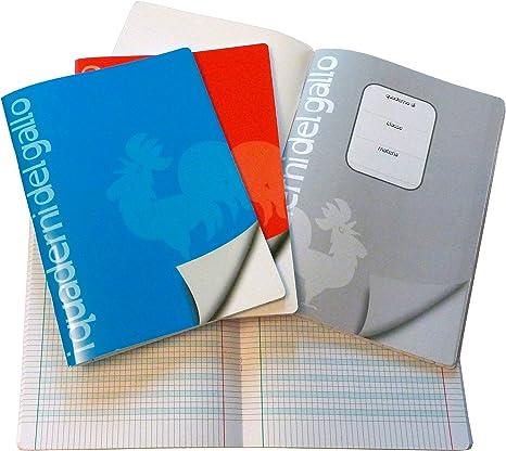 4 Quaderni Speciali per disgrafia e dislessia a quadretti da 4 mm.